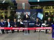 President Peterson speaks at the opening of the Panasonic Automotive Systems office adjacent to Georgia Tech's campus on 2 November 2012.